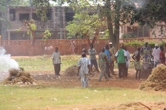 Royal Palaces of Abomey: Outside the Palace entry