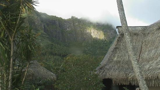 Club Bali Hai Moorea Hotel: Mountain view away from the bay