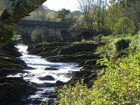 VIEW OF THE BRIDGE AT SHEEN FALLS LODGE