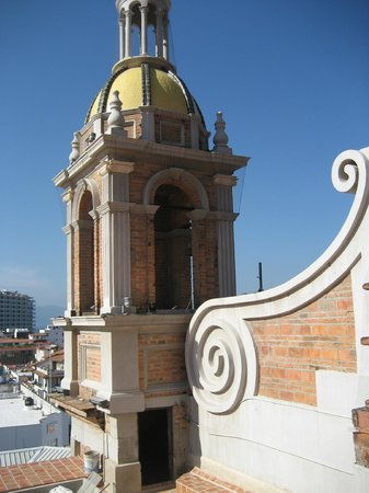 The Church of Our Lady of Guadalupe: The little black door where we entered the roof- just after the 1st spiral staircase.