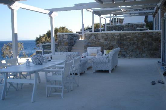 Casa del Mar Mykonos Seaside Resort: Our private porch