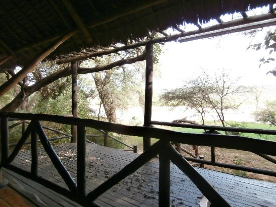 Samburu Intrepids Luxury Tented Camp: View from Bar
