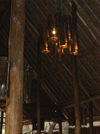 Samburu Intrepids Luxury Tented Camp: Wooden chandelier in Bar