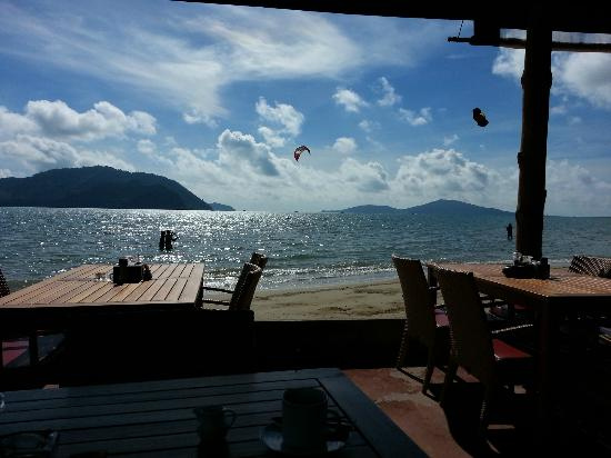 Friendship Beach Resort & Atmanjai Wellness Centre: View from the dining area by the bar.