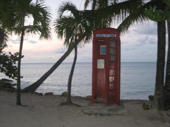 Siboney Beach Club: Famous Telephone Booth