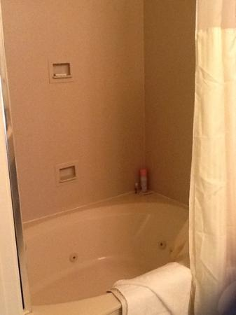Pelican Inn & Suites: jacuzzi tub & shower!