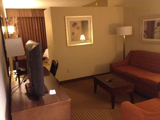 Hampton Inn West Palm Beach Florida Turnpike: lounge area/ tv room