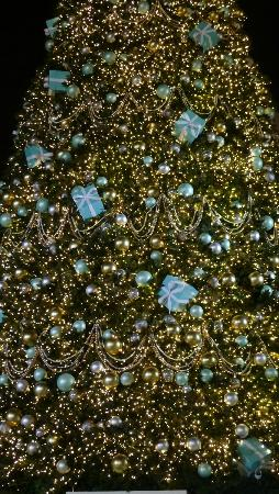Statue Square: Tiffany & Co tree at night - not bad!