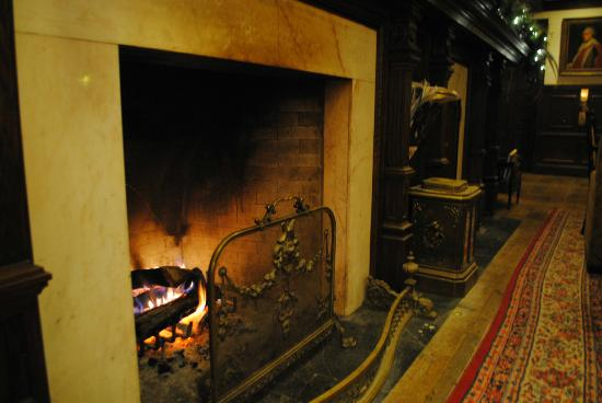 The Cheshire: Wood Burning Fire in the Lounge