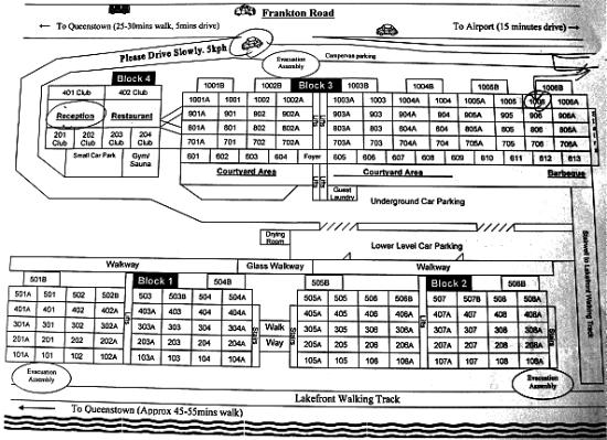 Oaks Shores: Oak Shores layout schematic plan.