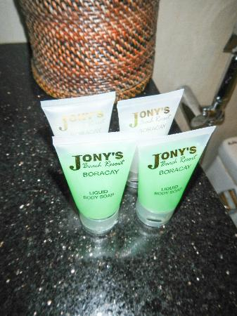 Jony's Beach Resort: Own shower gel and shampoo