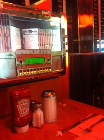 Pop Diner: own jukebox in booth amazing food and service
