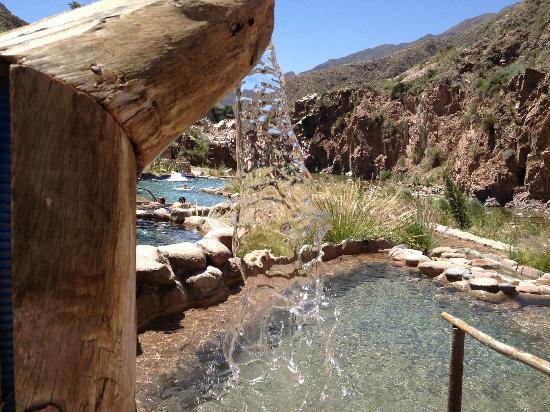 Hotel & Spa Termas Cacheuta: Sector piletas termales