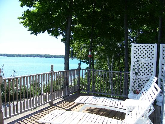 Torch Lake Bed & Breakfast: Views from the Sunset Suite deck