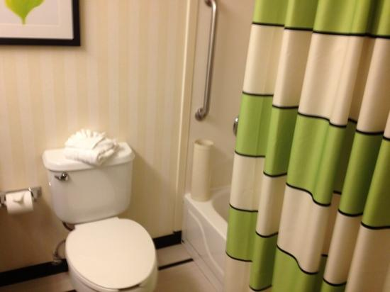 Fairfield Inn & Suites Orlando Lake Buena Vista: toilet and tub