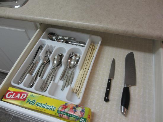 Yellowknife Polar Suite Guest Room: キッチンには小物も充実しています