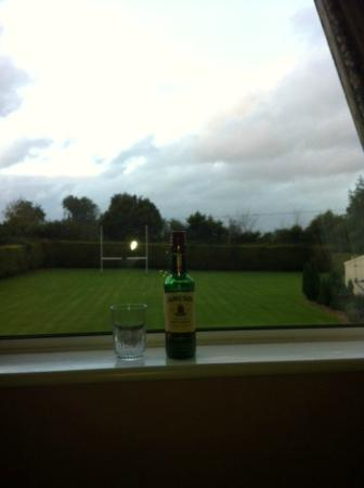 Meadow View B&B: Rugby and Jameson ;)
