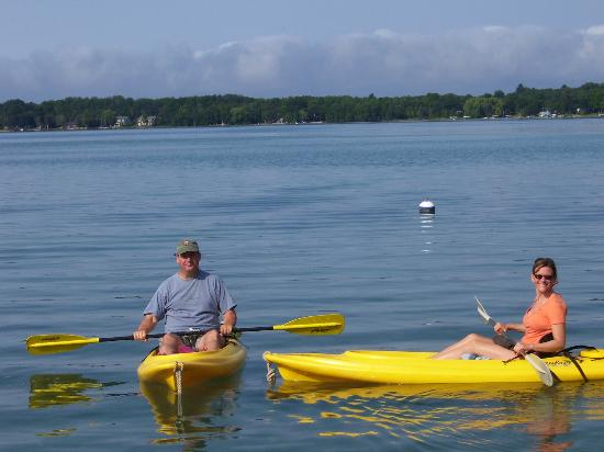 Torch Lake Bed & Breakfast: Kayaks are included with your room.