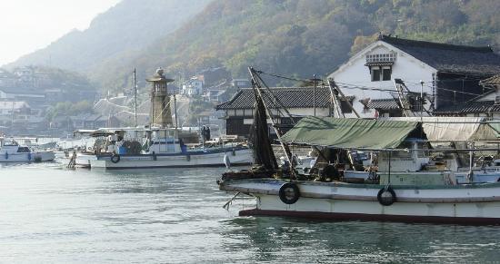 Fukuyama, Japonya: 鞆の浦、力石前の港
