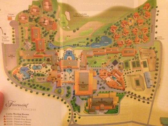 property map Picture of Fairmont Scottsdale Princess Scottsdale