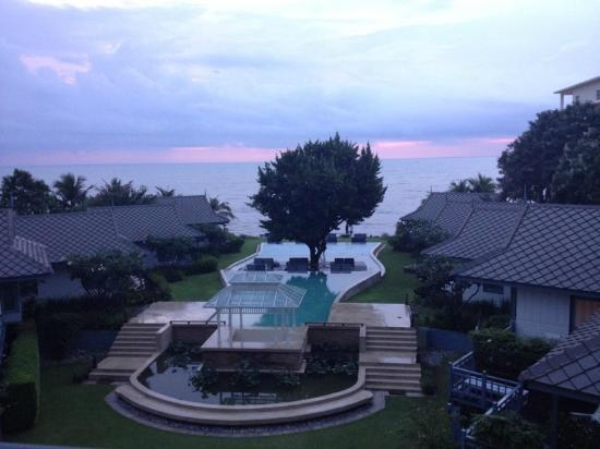 Devasom Hua Hin Resort: View from room. I resided at the seaside deluxe room on top floor of Devasom's main wing.