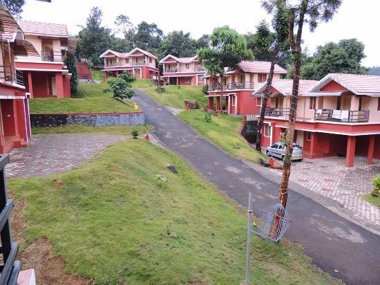 Vythiri Meadows: View of the property from our Villa