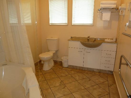 Tudor Lodge Motel: Studio Unit-bathroom