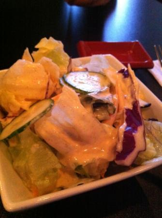 Jia Asian Fusion & Sushi Bar: salad with shrimp sauce