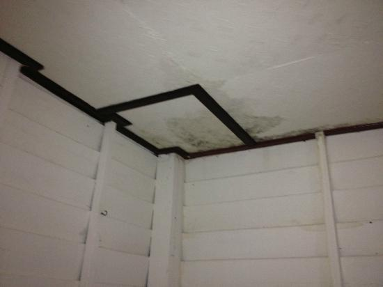 Island View Cabana: leak from the ceiling
