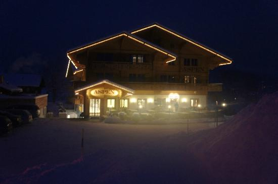 Aspen Alpin Lifestyle Hotel Grindelwald: Aspen bei Nacht