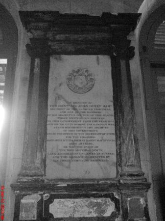 St Peter's Church: Memory stone of Sir John D'Oyly