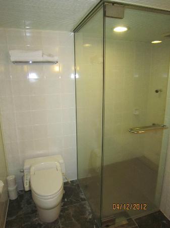 Quintessa Hotel Sapporo: Shower Stall + Toilet