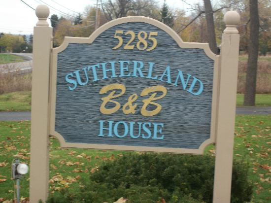 ‪‪Sutherland House Victorian Bed and Breakfast‬: sign