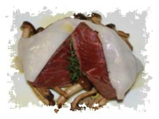 Ristorante Lo Stravagante : filetto di manzo con lardo di patanegra e pioppini