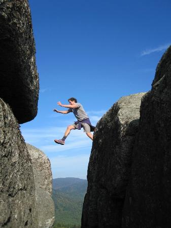 Leap of Faith Picture of Old Rag Mountain Hike Shenandoah