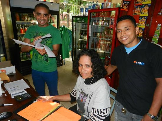 Art Hotel Managua: Friendly Staff , Alfredo,Amelia and Marlon