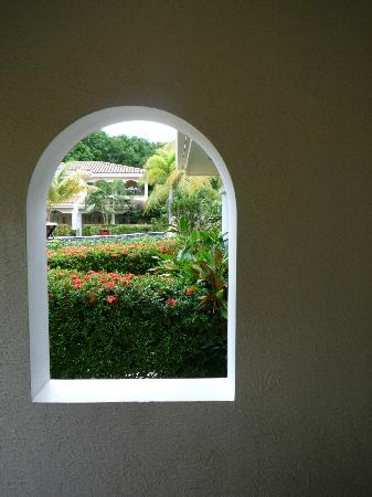Mayan Princess Beach & Dive Resort: A view through the window on our deck