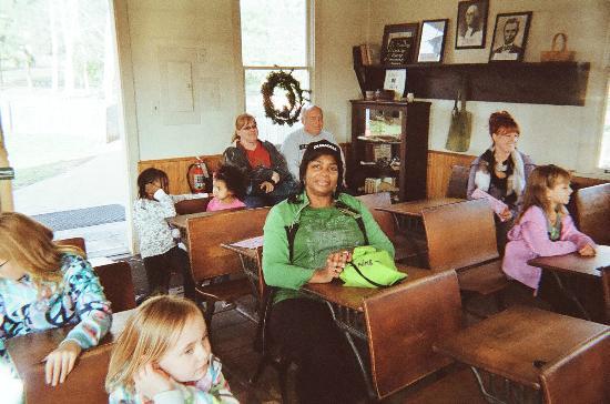 Polar Express at Blackberry Farm in Aurora, IL (one-room schoolhouse)