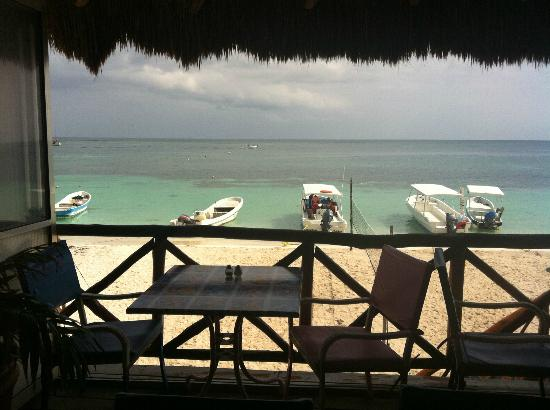 Hotel el Moro: View of the beach from La Panza es Primero Restaurant