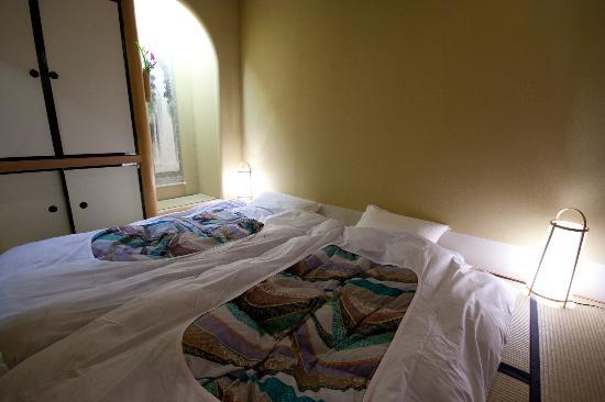 Kyomachiya Ryokan Sakura Honganji: The beds