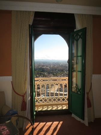 Hotel Alhambra Palace: View from our room