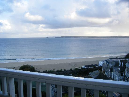 St. Ives Harbour Hotel & Spa: View from bedroom