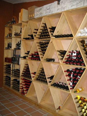 Rancho Los Toros: Amazing wine cellar