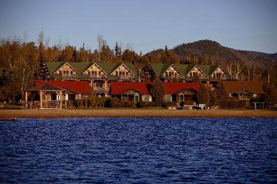 Ampersand Bay Resort & Boat Club: Rustic Cabins with the Birch Townhome in the background