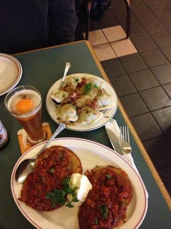 Eva's European Sweets: meat pierogi and a Gulasz & Kopytka (potato dumplings and beef stew)