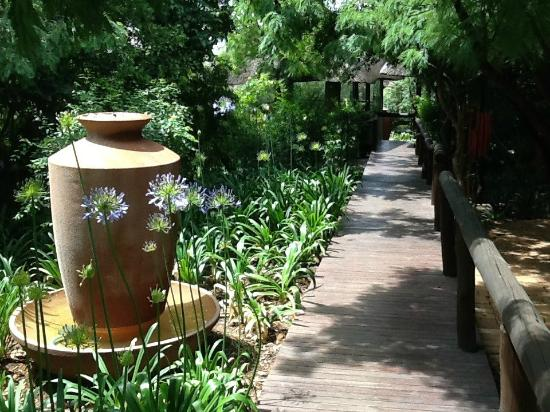 African Pride Mount Grace Country House & Spa: The walkway from the Wellness Centre to the change rooms