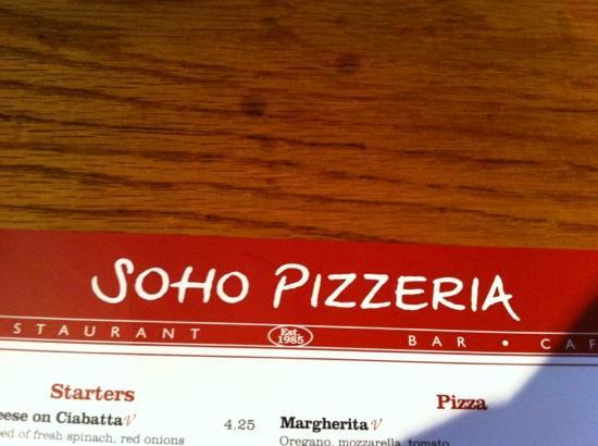 Soho Pizzeria: Soho pizzarestaurant !