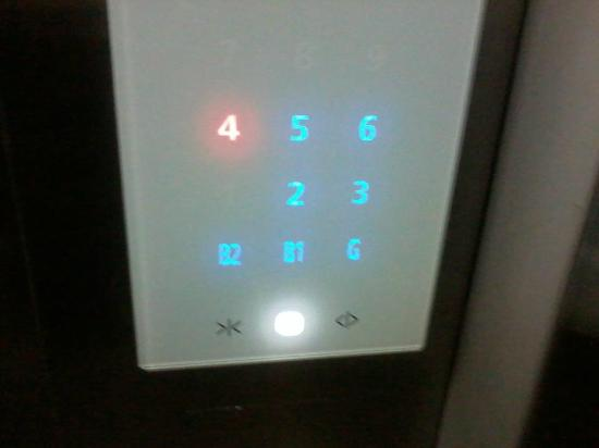 The Cocoon Boutique Hotel : Touch screen elevator buttons