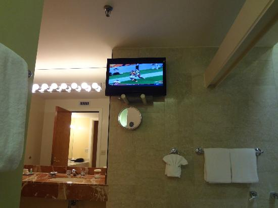 Haywood Park Hotel: Bathroom TV