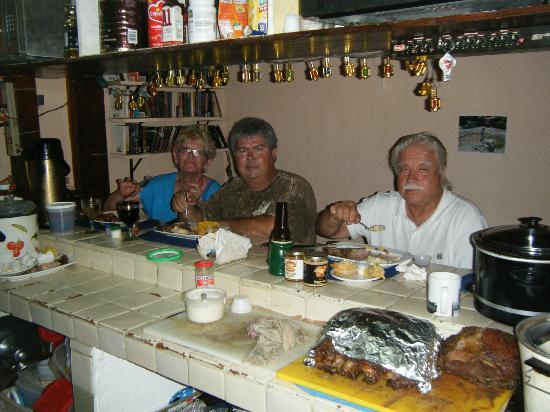 Alaska's Diner: Friends having Rogers famous Prime Rib